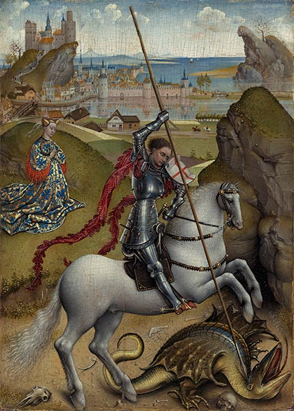 Saint George and the Dragon, c.1432/35 | van der Weyden | Painting Reproduction