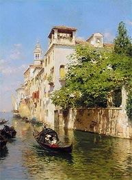 Canale Marin, Venice, undated by Rubens Santoro | Painting Reproduction