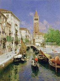 A Venetian Canal | Rubens Santoro | Painting Reproduction
