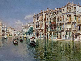 Grand Canal, Venice, undated by Rubens Santoro | Painting Reproduction