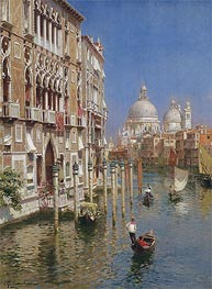 The Grand Canal, Venice | Rubens Santoro | Painting Reproduction