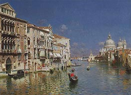 Gondola Ride, the Grand Canal, Venice | Rubens Santoro | Gemälde Reproduktion