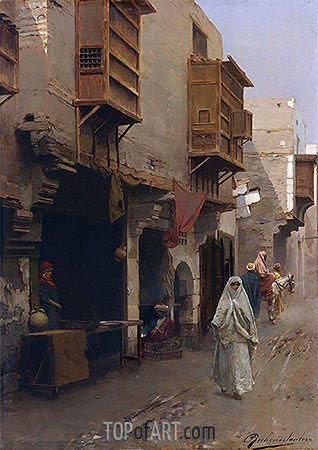 A Street in North Africa, undated | Rubens Santoro | Painting Reproduction