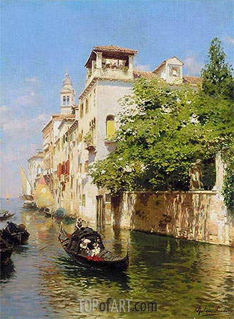 Canale Marin, Venice, undated | Rubens Santoro | Painting Reproduction