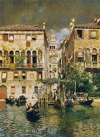 Leaving a Residence on the Grand Canal, undated | Rubens Santoro | Gemälde Reproduktion