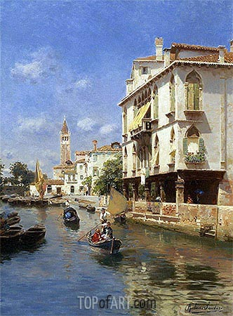 Canale della Guerra, Venice, undated | Rubens Santoro | Painting Reproduction