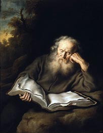 The Hermit, 1643 by Salomon Koninck | Painting Reproduction