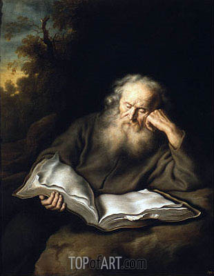 The Hermit, 1643 | Salomon Koninck | Painting Reproduction