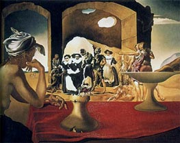 Slave Market with the Disappearing Bust of Voltaire, 1940 von Dali | Gemälde-Reproduktion