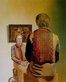 The Angelus of Gala (Portrait of Gala) | Dali | Painting Reproduction