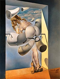 Young Virgin Auto-Sodomized by Her Own Chastity, 1954 von Dali | Gemälde-Reproduktion