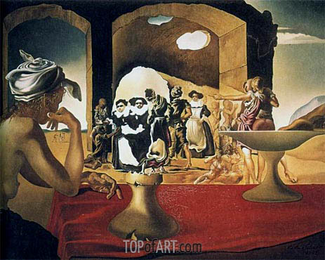 Slave Market with the Disappearing Bust of Voltaire, 1940 | Dali | Painting Reproduction