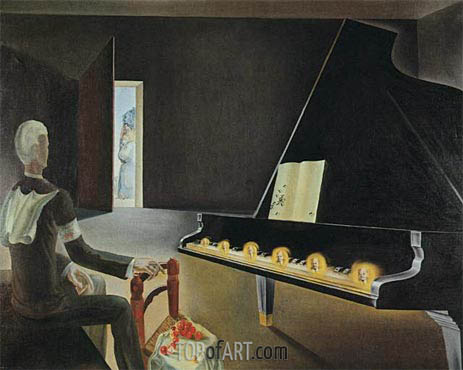 Partial Hallucination. Six Apparitions of Lenin on a Grand Piano, 1931 | Dali | Painting Reproduction