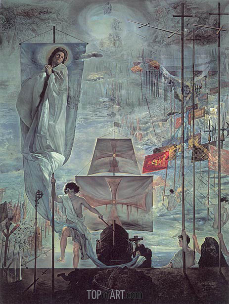 The Discovery of America by Christopher Columbus, c.1958/59 | Dali | Painting Reproduction