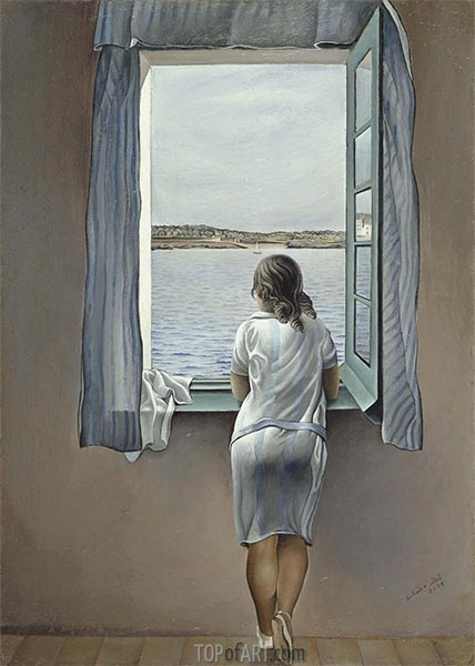 Figure at the Window, 1925 | Dali | Painting Reproduction