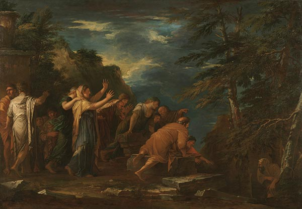 Pythagoras Emerging from the Underworld, 1662 | Salvator Rosa | Painting Reproduction