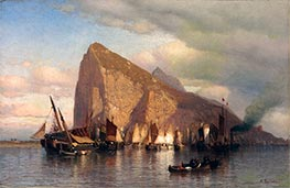 Clearing Storm at Gibraltar, c.1860 by Samuel Colman | Painting Reproduction