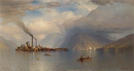 Storm King on the Hudson, 1866 by Samuel Colman | Painting Reproduction