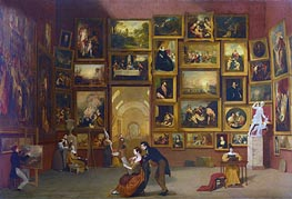 Gallery of the Louvre, c.1831/33 von Samuel Morse | Gemälde-Reproduktion