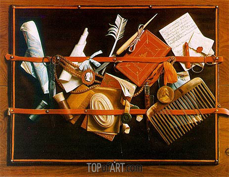 Trompe l'oeil (Pinboard), Letter Board, c.1666/78 | Hoogstraten | Painting Reproduction