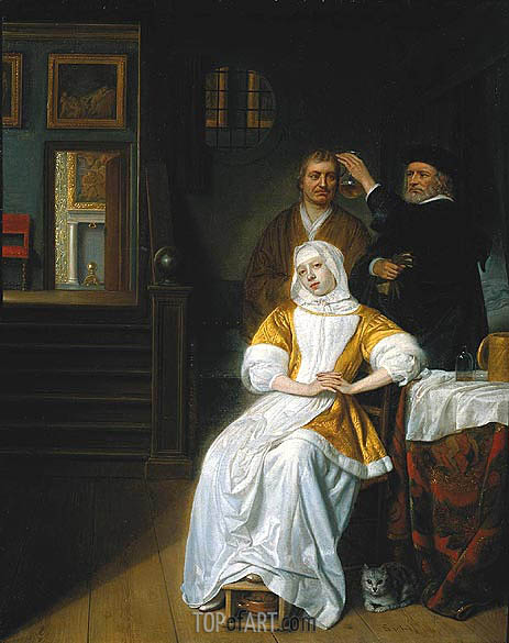 The Anaemic Lady, c.1660/70 | Hoogstraten | Gemälde Reproduktion