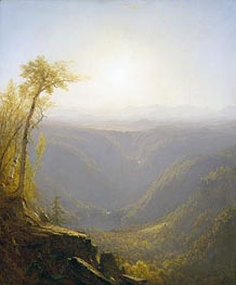 A Gorge in the Mountains (Kauterskill Clove), 1862 by Sanford Robinson Gifford | Painting Reproduction