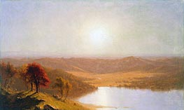 A View from the Berkshire Hills, near Pittsfield, Massachusetts, 1863 von Sanford Robinson Gifford | Gemälde-Reproduktion