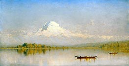 Mount Rainier, Bay of Tacoma - Puget Sound, 1875 by Sanford Robinson Gifford | Painting Reproduction