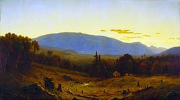 Hunter Mountain, Twilight, 1866 by Sanford Robinson Gifford | Painting Reproduction