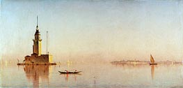 Leander's Tower on the Bosporus, 1876 von Sanford Robinson Gifford | Gemälde-Reproduktion