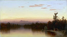 Twilight in the Adirondacks, 1864 by Sanford Robinson Gifford | Painting Reproduction