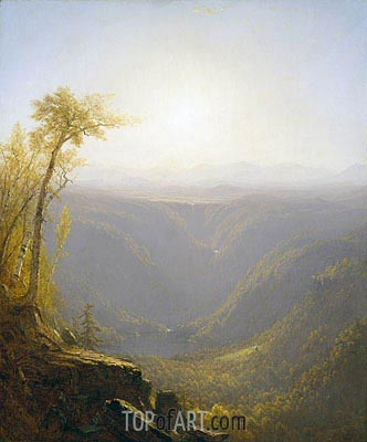 A Gorge in the Mountains (Kauterskill Clove), 1862 | Sanford Robinson Gifford | Painting Reproduction