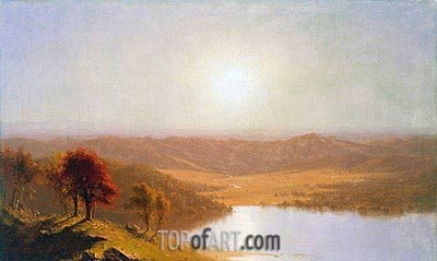 A View from the Berkshire Hills, near Pittsfield, Massachusetts, 1863 | Sanford Robinson Gifford | Painting Reproduction