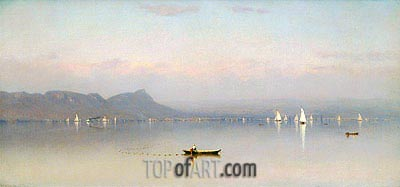Morning in the Hudson, Haverstraw Bay, 1866 | Sanford Robinson Gifford | Painting Reproduction