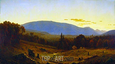 Hunter Mountain, Twilight, 1866 | Sanford Robinson Gifford | Painting Reproduction