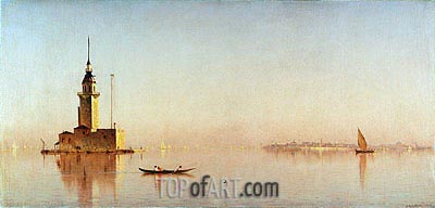 Leander's Tower on the Bosporus, 1876 | Sanford Robinson Gifford | Painting Reproduction