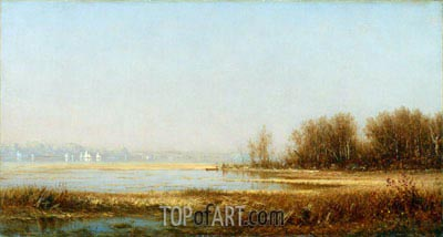 Marshes of the Hudson, 1878 | Sanford Robinson Gifford | Painting Reproduction