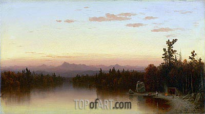 Twilight in the Adirondacks, 1864 | Sanford Robinson Gifford | Painting Reproduction