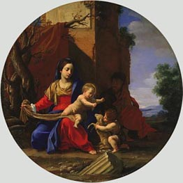 Holy Family with the Infant Saint John the Baptist, 1626 von Simon Vouet | Gemälde-Reproduktion