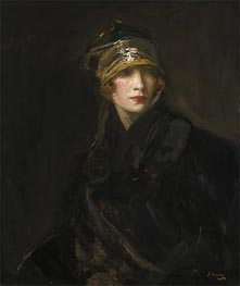 The Gold Turban, 1929 by Sir John Lavery | Painting Reproduction