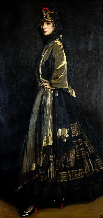 Hazel in Black and Gold, 1916 | Sir John Lavery | Painting Reproduction