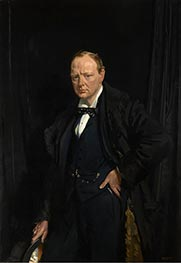 Winston Churchill, 1916 von Sir William Orpen | Gemälde-Reproduktion