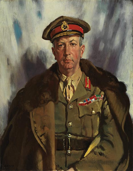 Lieutenant General Sir Arthur Currie, 1919 | Sir William Orpen | Painting Reproduction