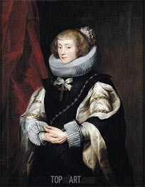 Portrait of Princess Marie de Barbancon, Duchess of Arenberg, c.1625/32 von van Dyck | Gemälde-Reproduktion