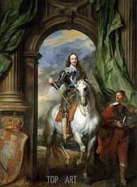 Charles I with M. de St Antoine, 1633 by van Dyck | Painting Reproduction