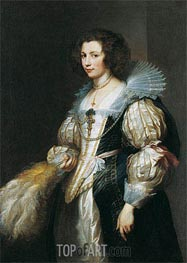 Portrait of Maria Louisa de Tassis | van Dyck | Painting Reproduction
