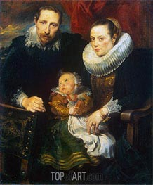 Family Portrait (Jan Wildens Family), c.1619 by van Dyck | Painting Reproduction