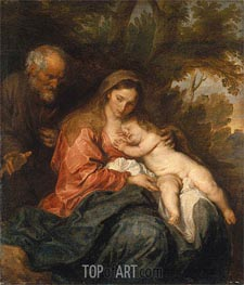 Rest on the Flight into Egypt, c.1627/32 by van Dyck | Painting Reproduction