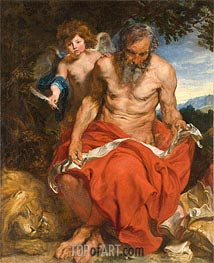 St Jerome, c.1618/20 by van Dyck | Painting Reproduction