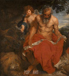 St Jerome, Undated by van Dyck | Painting Reproduction